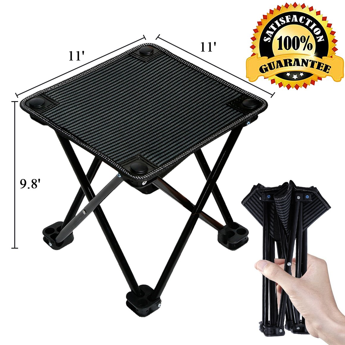 Portable Folding Stool Waterproof Ultralight Folding Chair 600D Oxford Cloth Camping Stool Aluminum Alloy Collapsible Chair for Camping Fishing Travel Hiking Picnic Barbecue 10.2 x10.2 x 9.8