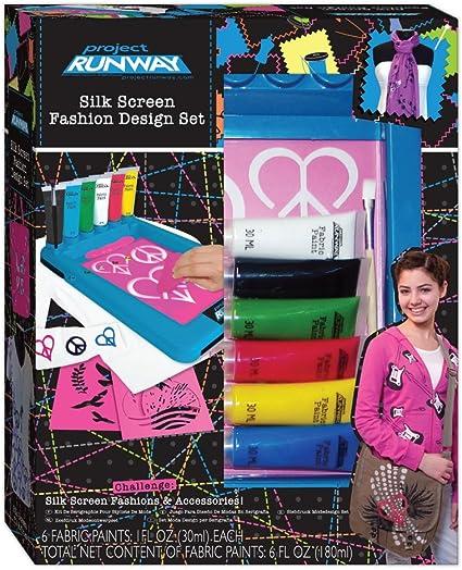 Amazon Com Fashion Angels Project Runway Silk Screen Designer Toys Games