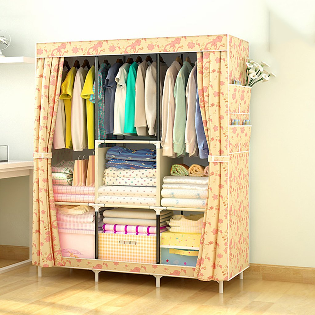 E Bedroom Wardrobes Portable Clothes Closet Nonwoven Fabric Wardrobe Foldable Wardrobe DIY folding storage cabinet