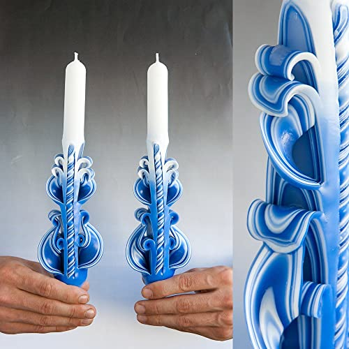 luxury hand carved taper candles for unique christmas gifts home decor and unusual housewarming gift