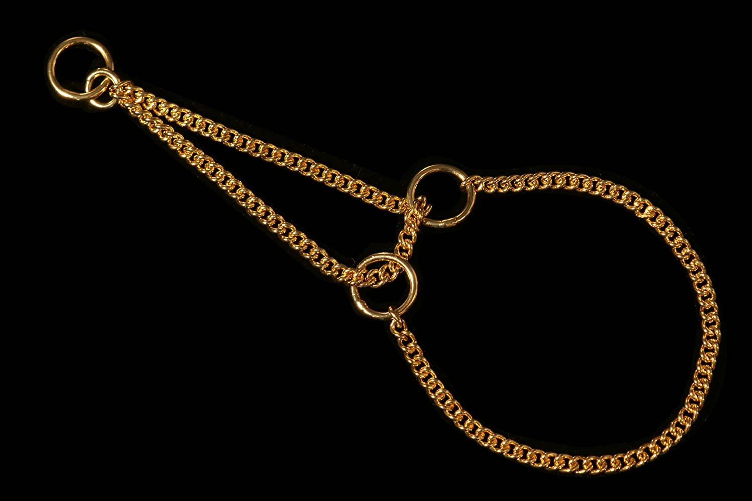 gold Plate Alvalley Martingale Chain Show Collar for Dogs Thickness 1.2 mm x 14 in