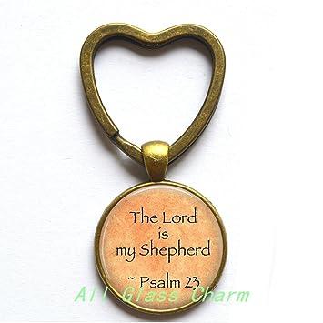 Amazon.com: Hermoso anillo de corazón llavero, escritura de ...