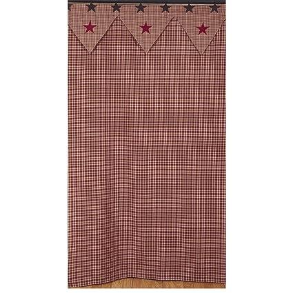 Vintage Star Wine Shower Curtain Bathroom 100 Cotton Fabric 72quot X