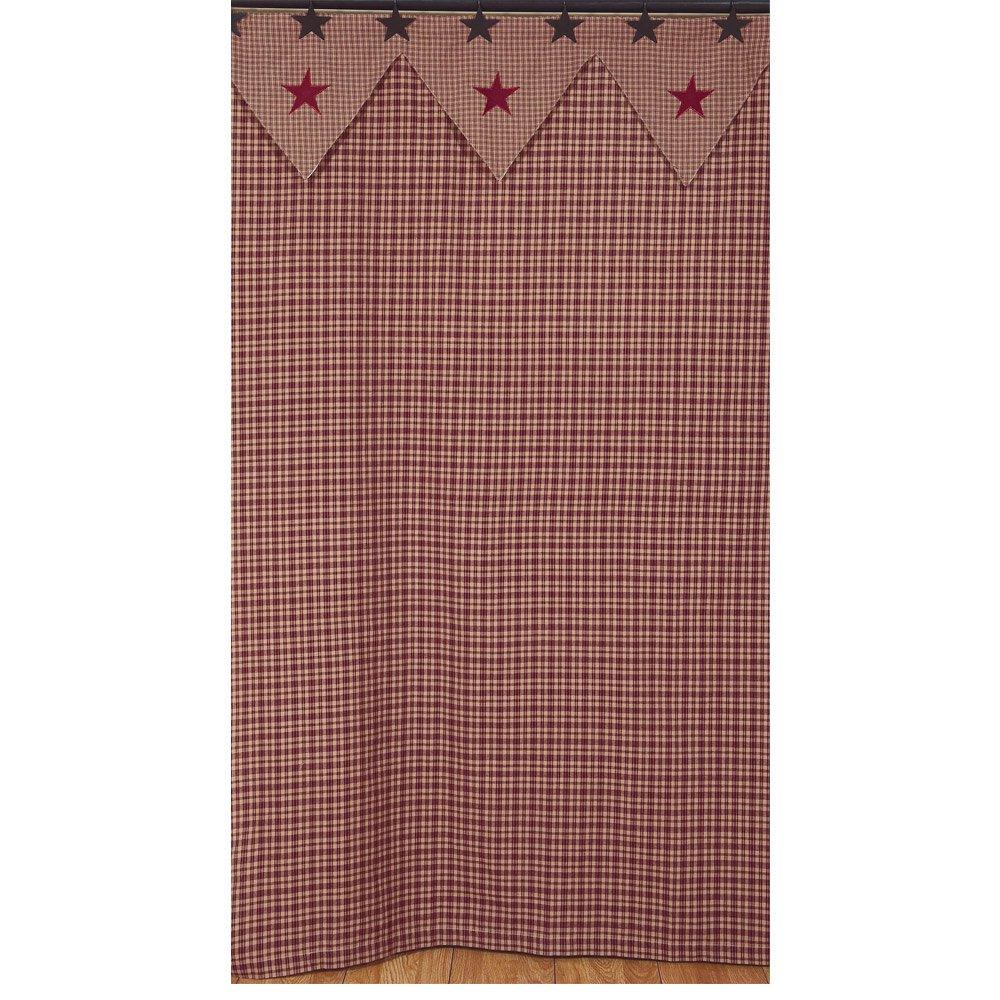Vintage Star Wine Shower Curtain Bathroom 100% Cotton Fabric 72'' x 72'' IHF Home Decor