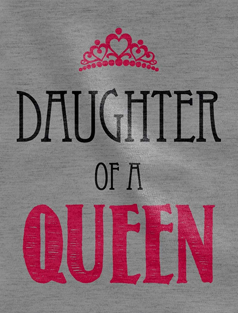 Daughter of a Queen Mommy and Me Mothers Day Cute Newborn Baby Long Sleeve Gown Newborn Light Blue