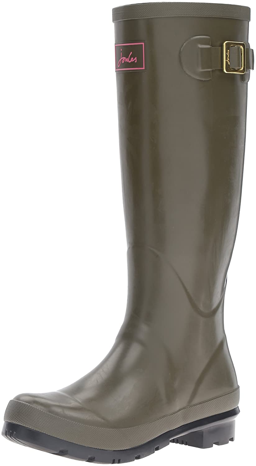 Joules Women's Field Welly Gloss Rain Boot B01F00E00K 5 B(M) US|Woodland Green