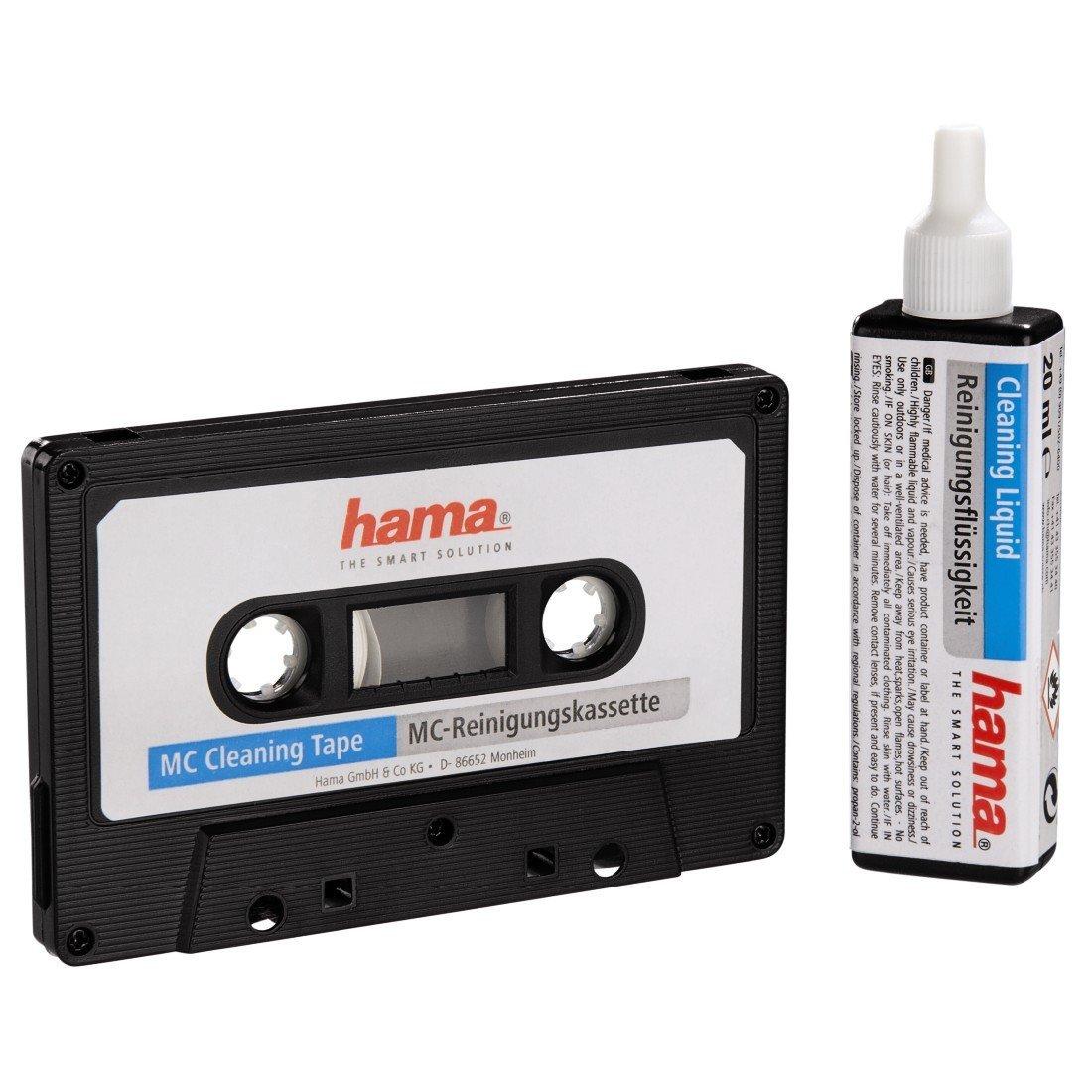 Hama MC Cleaning Cassette'Audioclean' - Cinta de limpieza Negro Hama MC Cleaning CassetteAudioclean - Cinta de limpieza Negro 044708