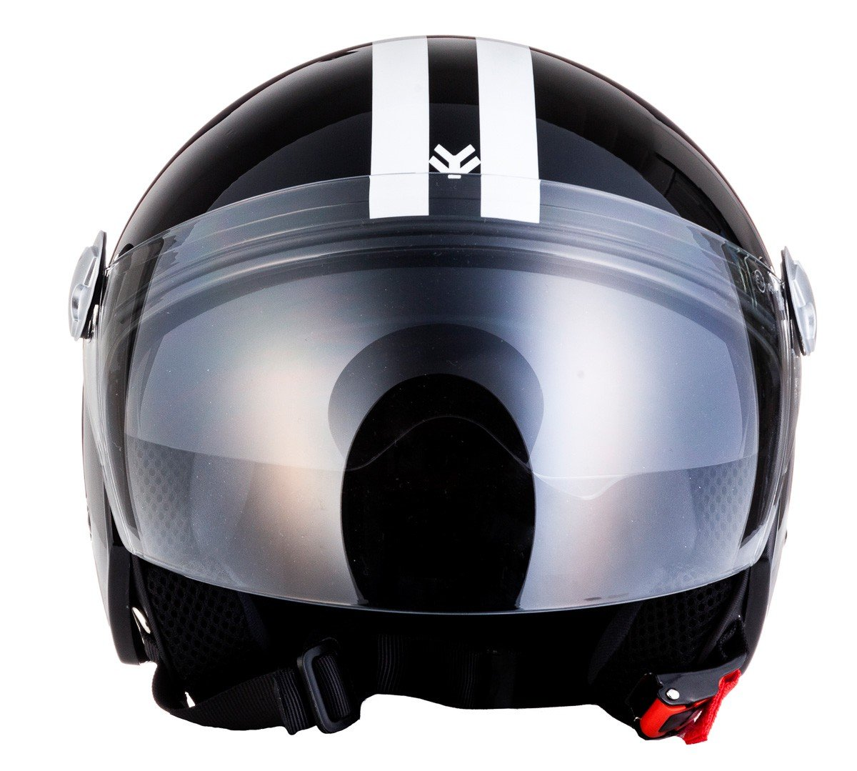 "/· Open Face Helmet /· Jet Motorbike Retro Pilot Scooter Motorcycle /· ECE certified /· Separate Visors /· Click-n-Secure Clip /· Carrier Bag /· XS 53-54cm Armor /· AV-63 /""Italy Creme/"" yellow"