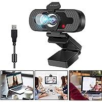 Eocean HD Webcam Cámara Web 1080P con Micrófono y Cubierta de privacidad, Webcam PC para Videollamadas, Estudios…