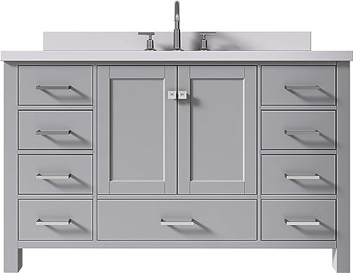 ARIEL 55″ Inch Grey Bathroom Vanity