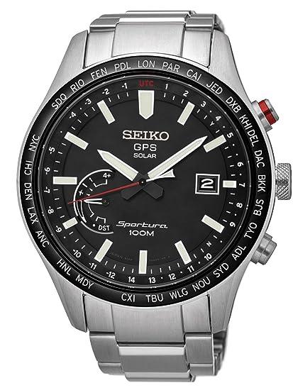 Seiko Reloj Analógico para Hombre de Energía Solar con Correa en Acero Inoxidable SSF003J1: Amazon.es: Relojes