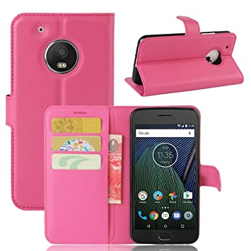 Amazon.com: (For Motorola Moto G5) Flip Wallet Case Cover ...