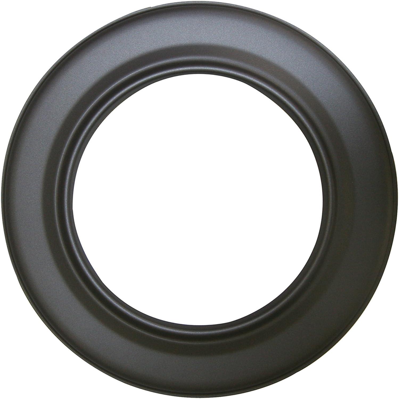 Kamino - Flam – Rosetón para tubo de chimenea (Ø 150 mm), Rosetón anillo para tubos de estufa, Rosetón conector para sistema de chimeneas, estufas, ventilaciones – acero resistente y durable – gris os