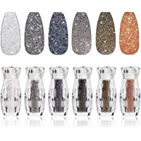 6 Bottles Nail Pixie Crystals Multicolor Micro Caviar Beads Mini Glass Rhinestone for Nail Art Design Metallica Rock 3D…