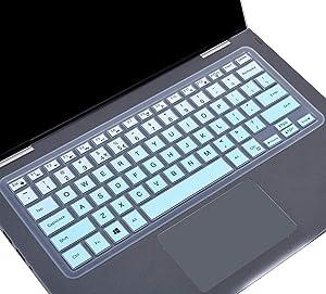 "Keyboard Skin Cover for 2018 Dell Inspiron 13 5000 i5368 i5378 i5379, Dell Inspiron 13 7373 7375 7368 i7368 7378 i7378, 15.6"" Dell Inspiron 15 i5568 i5578 5579 7570 7573 7569 7579, Gradual Mint Green"