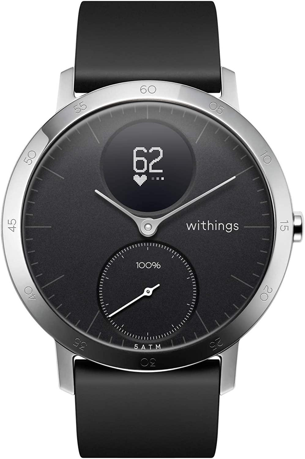 Withings Steel HR Reloj Inteligente, Unisex Adult, Negro, 40mm