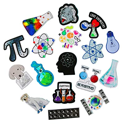 SBOBUY 50 PCS Science Chemistry lab Astronaut Stickers Blockchain Code Brain Scientists Funny Stickers for Child Gift Decor Luggage: Toys & Games