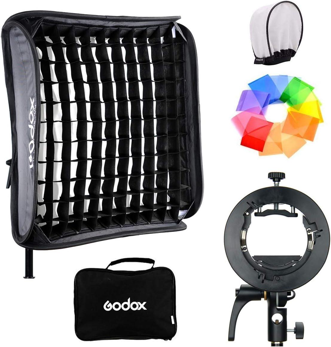 Godox S2 S Type Halterung Mit Softbox Honeycomb Grid Kamera