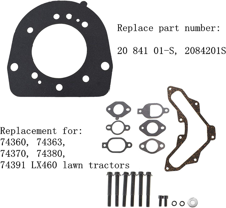 WFLNHB Cylinder Head Gasket Repair Kit Replacement for Kohler SV470 SV471 SV480 SV530 SV540 SV541 SV590 SV591 SV600 SV601 SV610 SV620