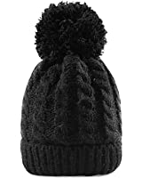 MTR Mr.T Women's Winter Beanie Warm Fleece Lining - Thick Slouchy Cable Knit Skull Hat Ski Cap