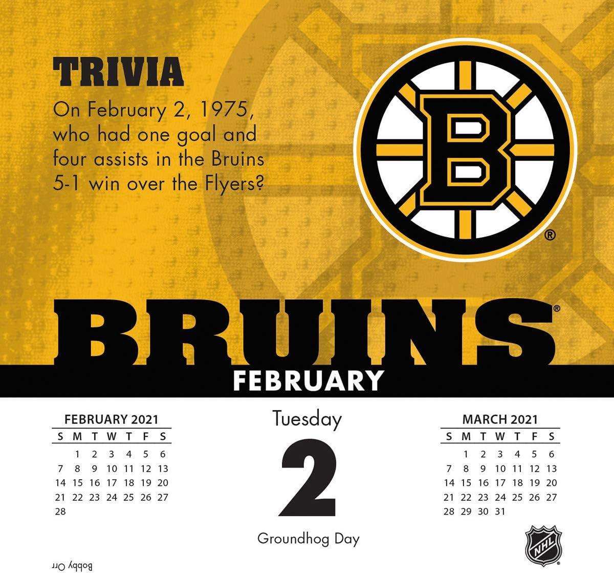 21998051458 TURNER Sports Boston Bruins 2021 Box Calendar