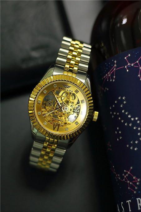 5c4884c22dd3 Relojes suizos de lujo dorados para hombres