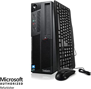 Wireless Desktop Computer PC, Intel Core i5 3.2-GHz, 8GB RAM, 2TB HDD, Keyboard, Mouse, DVD, WiFi, Bluetooth, Windows 10, Compatible with Lenovo ThinkCentre M90 (Renewed)