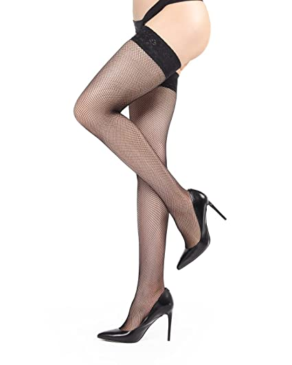 d605189af84c5 MeMoi Fishnet Thigh Highs | Buy Fishnet Stockings at Amazon Women's  Clothing store: