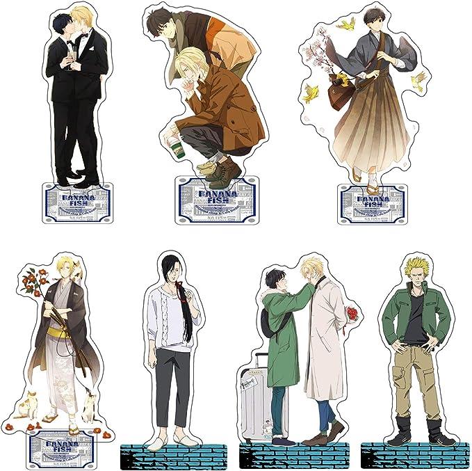 Anime BANANA FISH Ash Okumura Eiji couple Acrylic Stand Figure