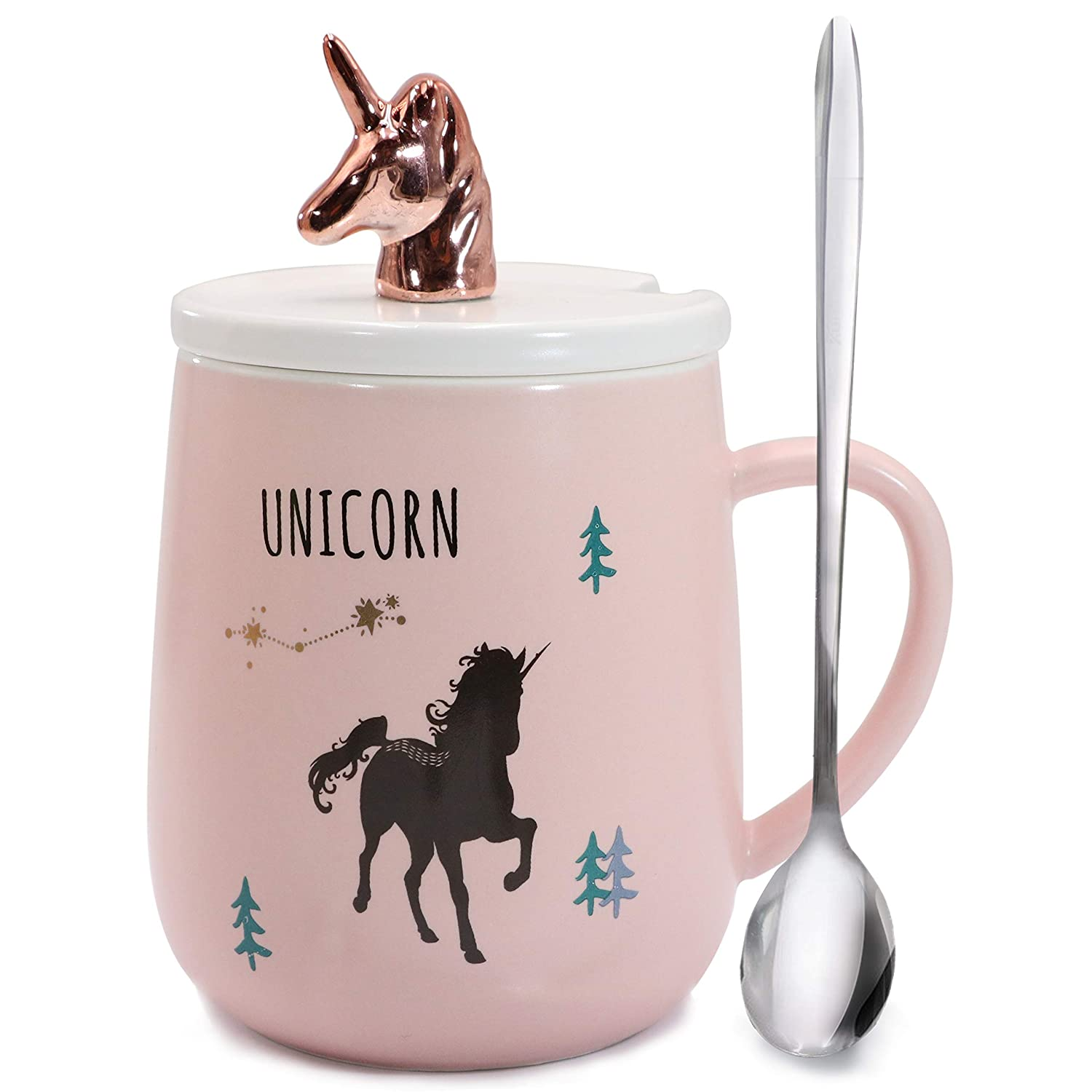 Amazon Com Sunddo 3d Unicorn Mug Cute Rose Gold Pink Coffee Mugs