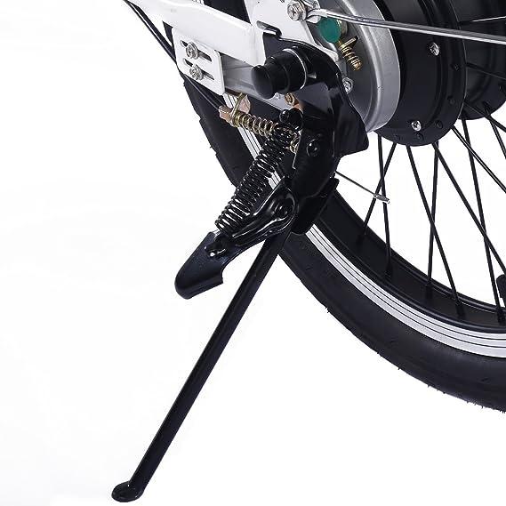 Bicicleta eléctrica plegable batería 36V-10ah Aoma motor LED Carga 110 kg Blanco/Negro (Blanco): Amazon.es: Deportes y aire libre
