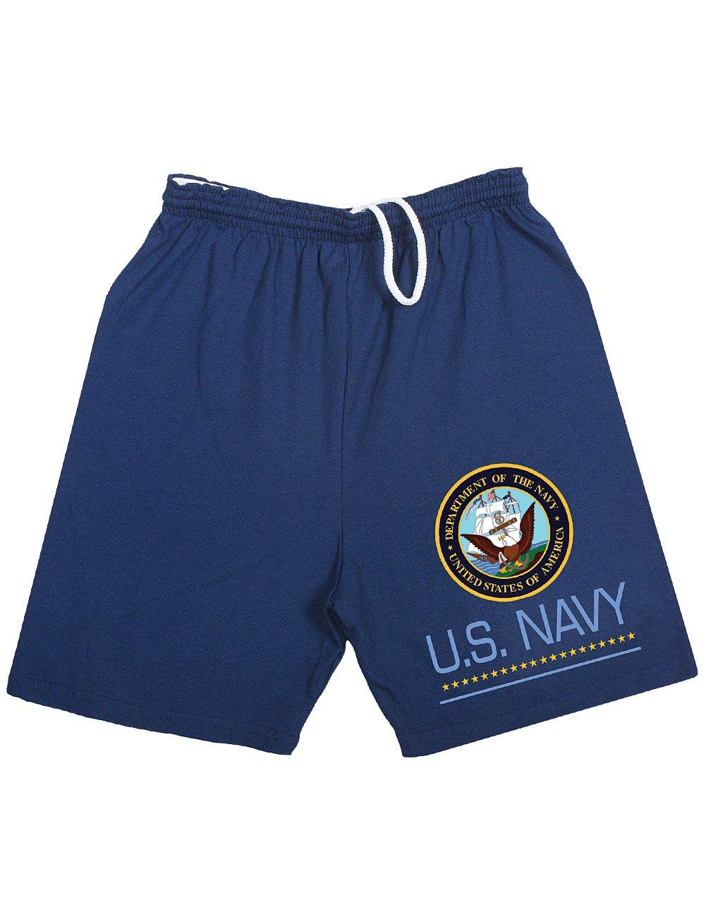 Fox Outdoor US Navy Military Emblem USN Logo Jogging, Running Shorts