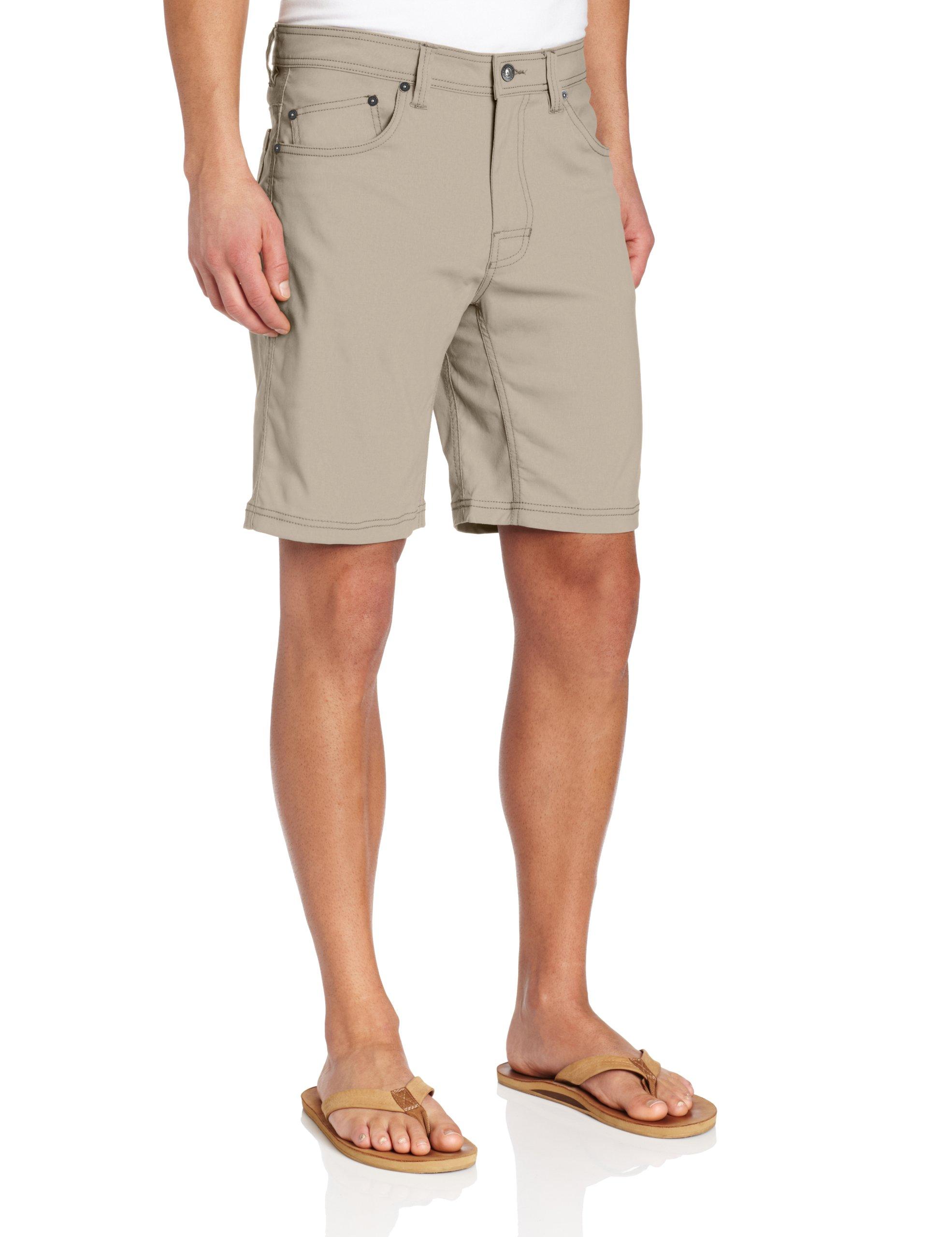 prAna Living Brion Shorts, Dark Khaki, 32