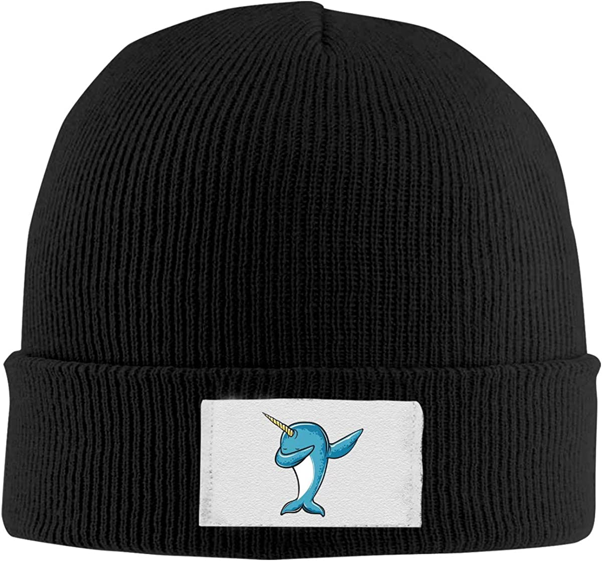 Unisex Stylish Slouch Beanie Hats Black Narwhal Dab Top Level Beanie Men Women