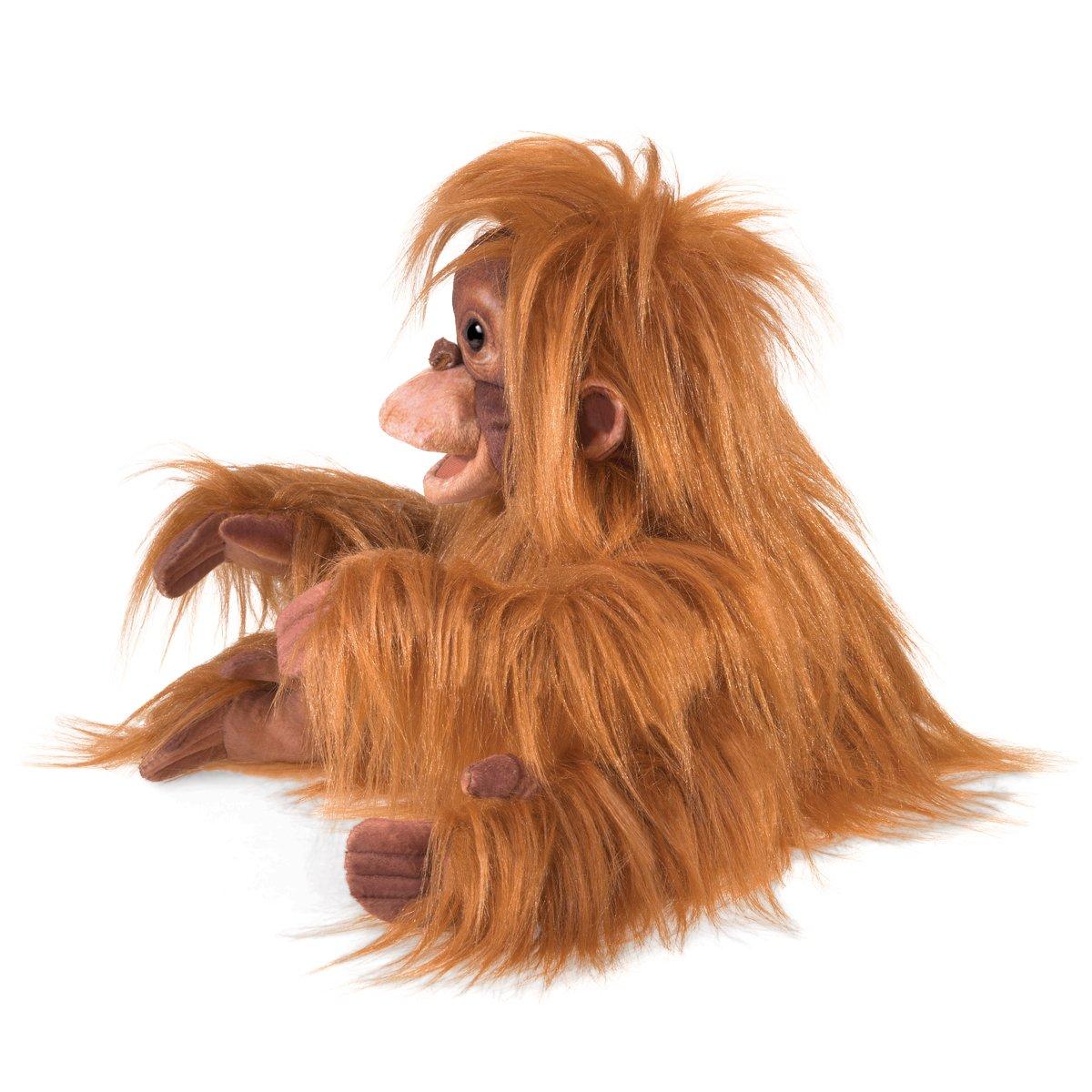 Orange//Brown Folkmanis Puppets Baby Orangutan Hand Puppet