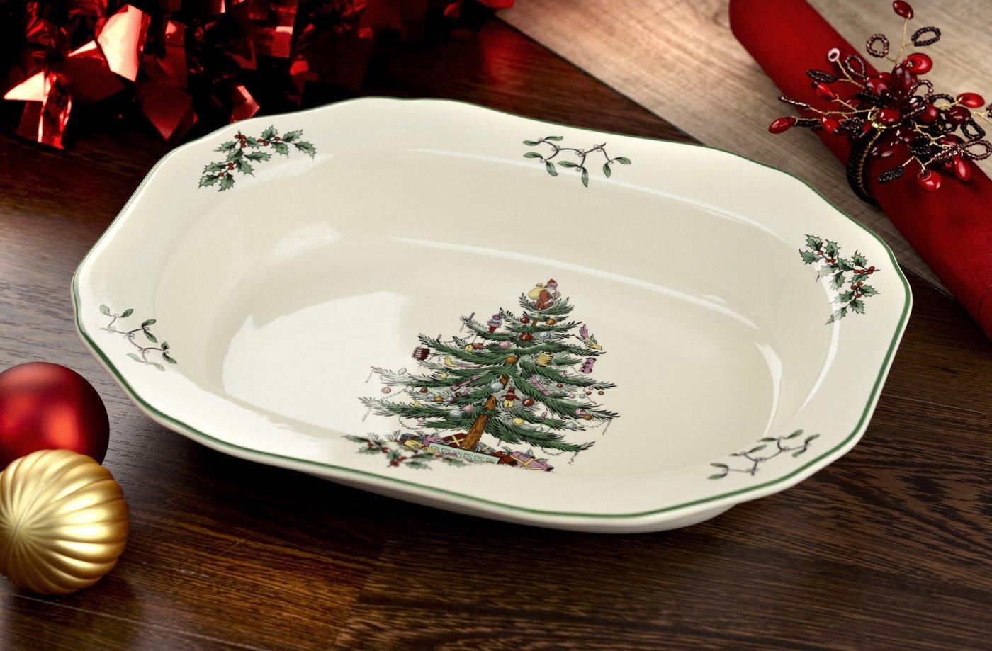 Amazon.com: Spode Christmas Tree Open Vegetable Dish, 1 11-1/2-Inch ...