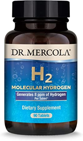 Dr. Mercola H2 Molecular Hydrogen Dietary Supplement, 90 Servings (90 Tablets), Non GMO, Gluten Free, Soy Free: Health & Personal Care - Amazon.com