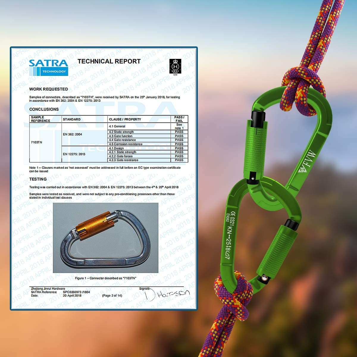 Hiking /& Utility Swing Green Camping FVW 3Pack Heavy Duty Climbing Carabiners,25KN Auto Locking Rock Climbing Carabiners Clips for Hammocks Locking Dog Leash and Harness