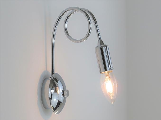 Plafoniere Da Parete Per Interni : Lampada parete applique design moderno illuminazione interni bagno