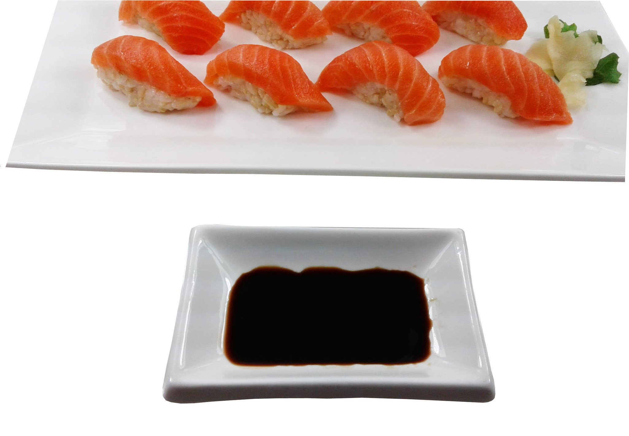 4'' White Rectangular Porcelain Sauce Dish - Great for Soy Sauce, Wasabi, Hot sauce (1 DZ)