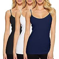 Camisetas de Tirante de Algodón para Mujer Pack de 3 Camisetas sin Mangas para Mujer