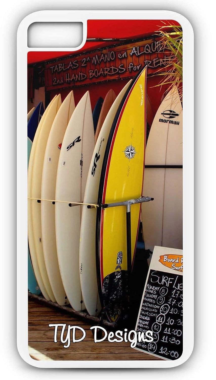 Amazon.com: iPhone 7 Case Surf Shop Wave Rental Board Ocean Sea Hawaii Customizable by TYD Designs in Black Plastic: Cell Phones & Accessories