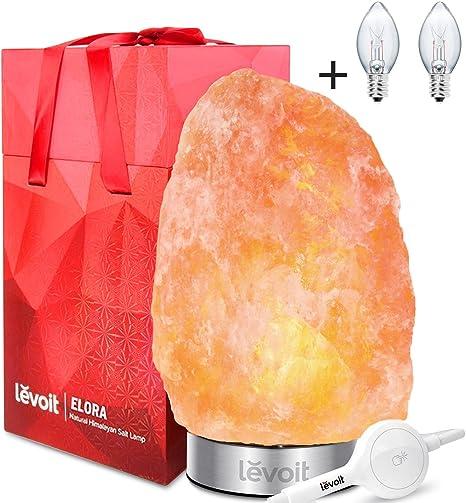 Amazon.com: Lámpara de sal Levoit, lámpara de sal rosa ...