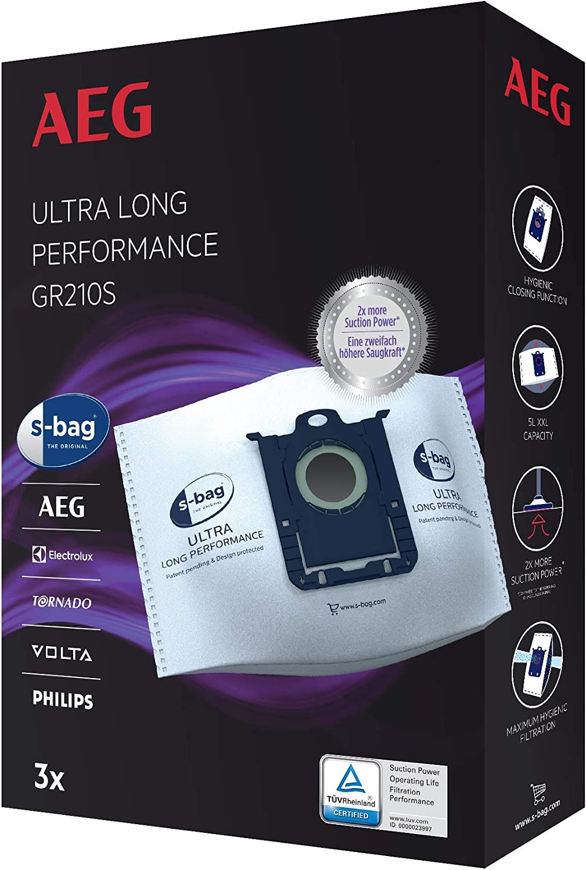 Aeg GR210S S-Bag Ultra Long Performance Vacuum Cleaner Bags,