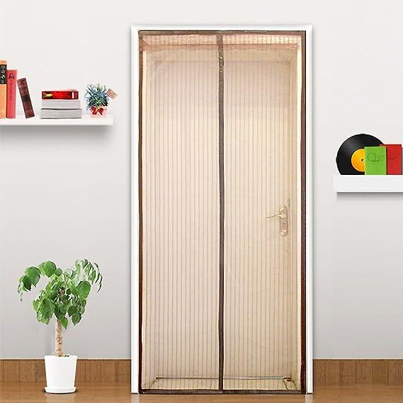 ZHFC La magia de mosquito cortina, cortina puerta, imán magnético de puerta de pantalla, verano suave pantalla puerta, encriptación, mute, repelente de mosquitos cortina.,100x210cm: Amazon.es: Hogar