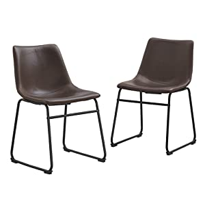 "WE Furniture AZHL18BR Dining Chairs, 18"", Brown"