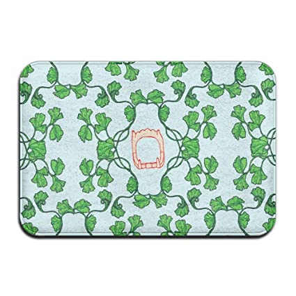 Amazoncom Mecikr Doormat Green Vines And Frames Home Super