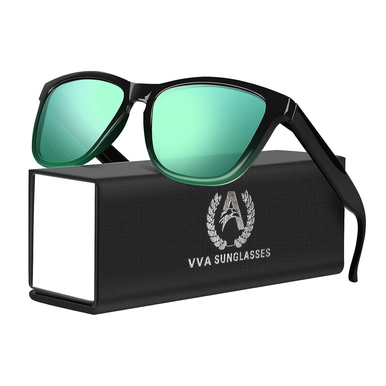 VVA Occhiali da Sole da uomo Polarizzati Uomo e Donna Occhiali da Dole Retr/ò classici per la guida allaperto Protezione UV400 V105