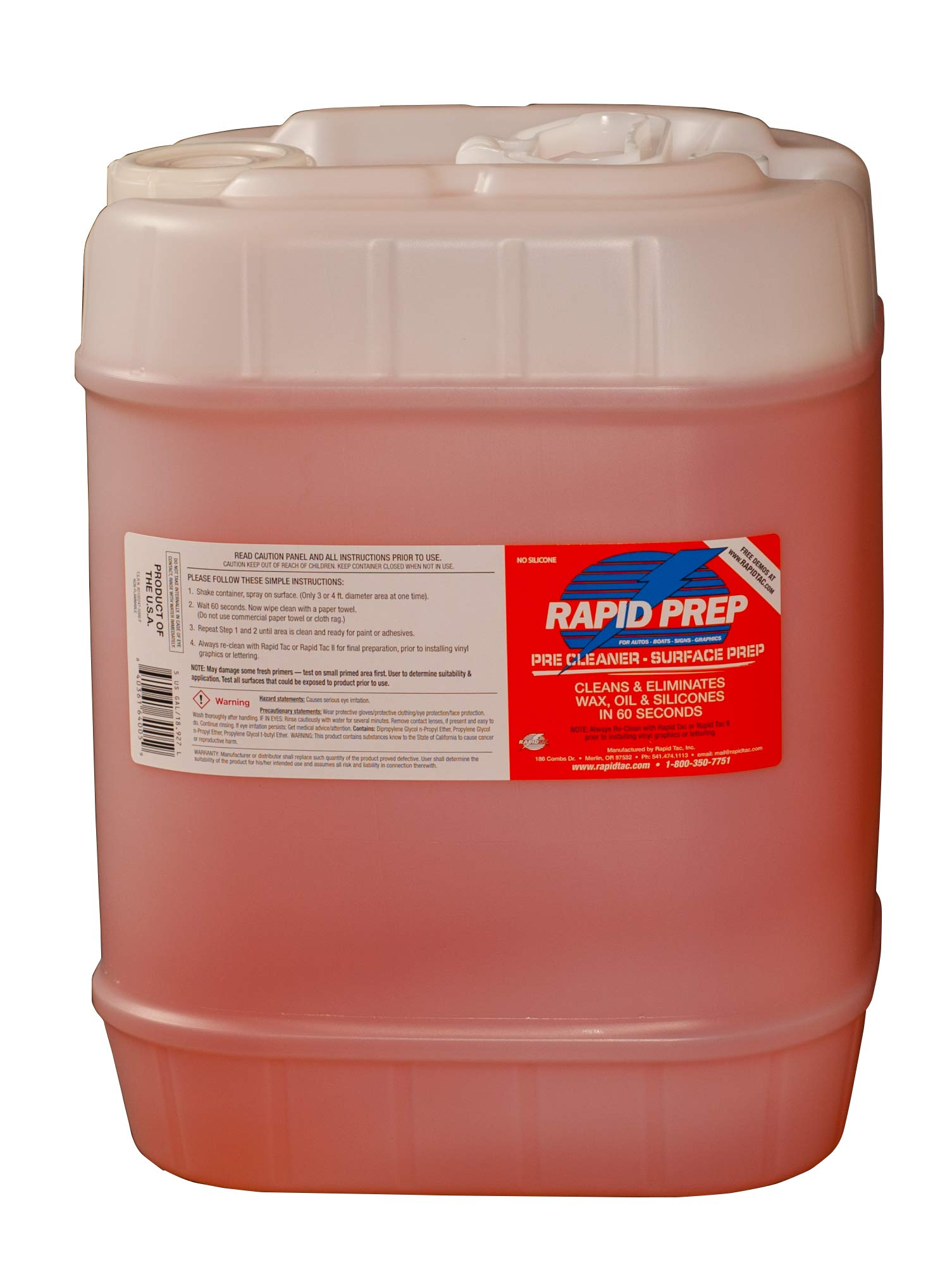RapidTac Rapid Prep Surface Cleaner for Vinyl Graphics Wraps and Decals (640 oz. (5 Gallon))