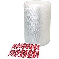 Bubble Wrap Rolls 11 meter – Kleine Air Bubble Wrap Sheets met 10 Breekbare Stickers - Ideaal voor Verpakking Bewegende…
